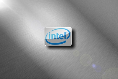 HD Intel brushed metal chrome wallpaper desktop background