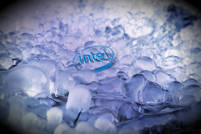 HD Intel glass ice blue desktop wallpaper background