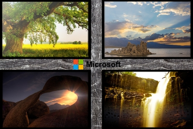 High def wallpaper with Microsoft's new 2012 logo.