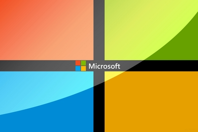 Background featuring Microsoft's new 2012 logo.