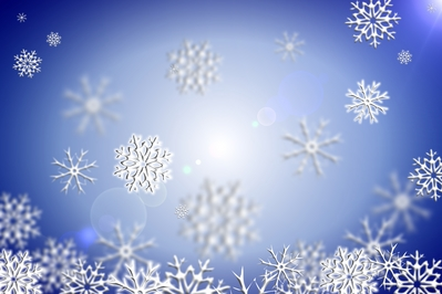 Desktop holiday background featuring snowflakes